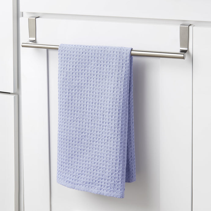 YouCopia Over the Cabinet Door Expandable Towel Bar, Stainless Steel