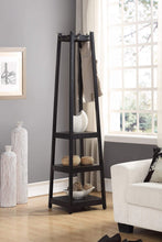 Try roundhill furniture vassen coat rack with 3 tier storage shelves black finish
