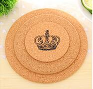 Multipurpose Heat Resistant Pad Wood Round Shape Cork Coaster Tea Drink Wine Coffee Cup Saucepan Mat Pad Table Decor