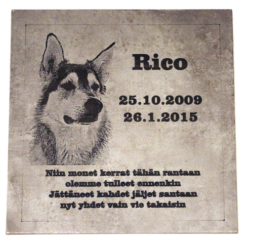 Memorial Plaque for your Pet  Ceramic tile 330 x 330 x 8 mm