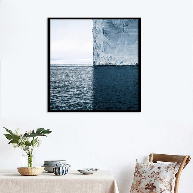 Seascape Landscape Print Nordic Canvas Painting Home Decor Wall Art DIY Poster Print Office Living Room Backdrop Props Supply