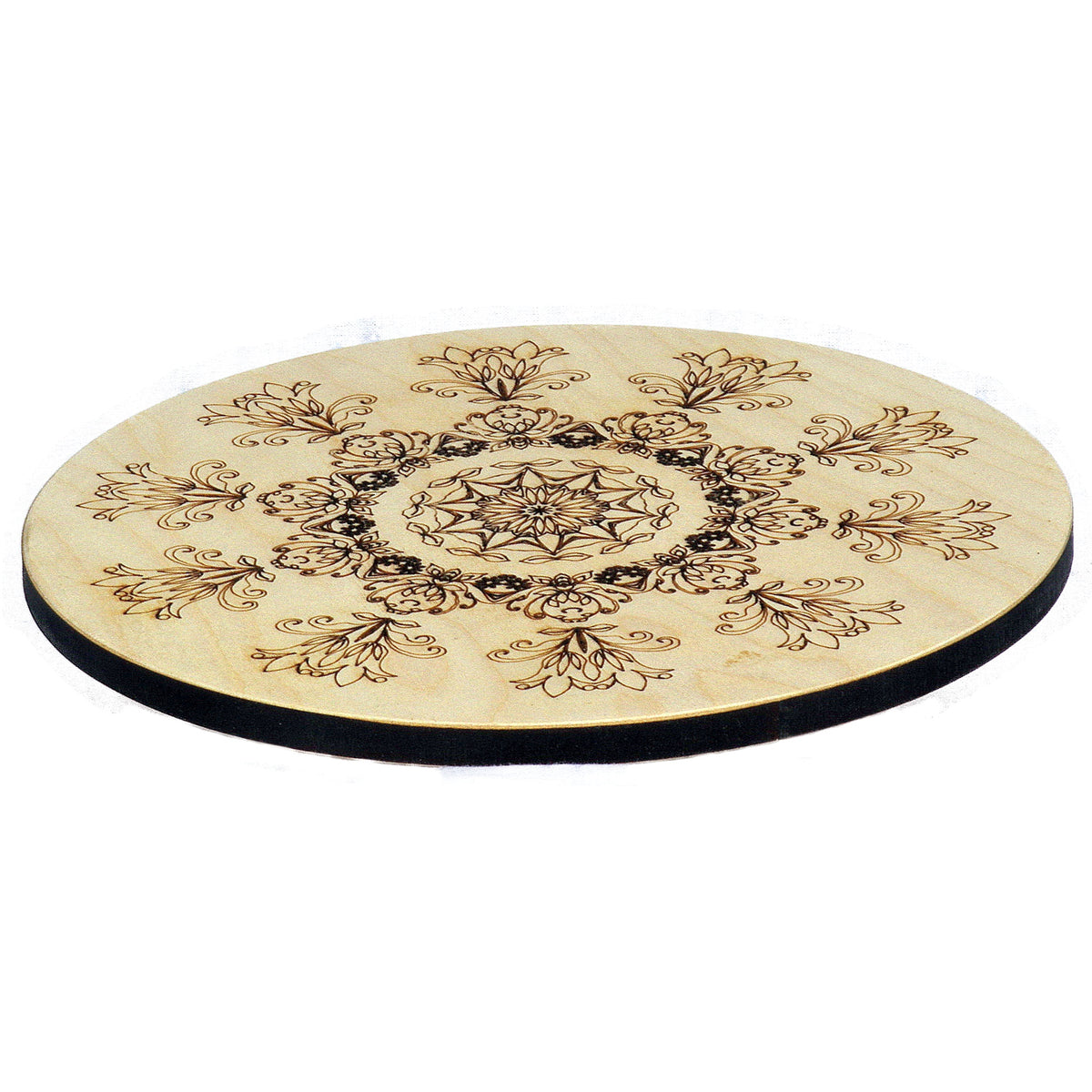 Flower figures Laser Cut and Engraved Large Coaster