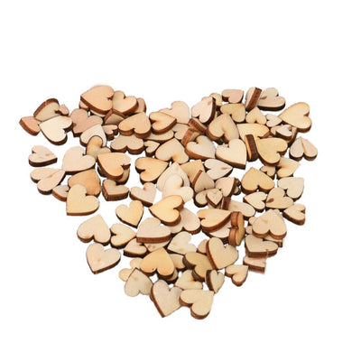 100pcs Rustic Wood Wooden Love Heart Wedding Table Scatter Decoration Crafts DIY  Drop Shipping 2018j23