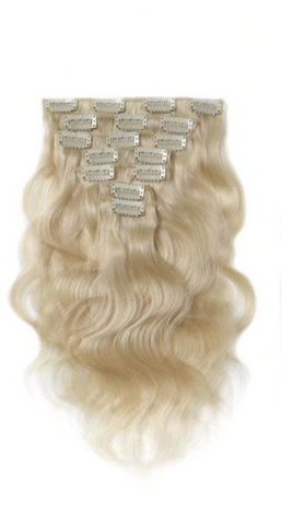 Blonde Bodywave Clip-In