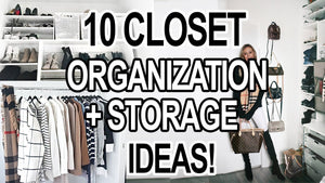 10 NEW CLOSET ORGANIZATION + STORAGE IDEAS FOR SMALL CLOSETS! Affordable, construction free and easy ways to organize a small closet! Give this ...
