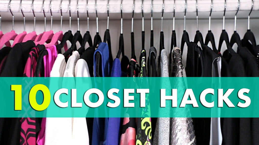 Closet Hacks! 10 closet organization hacks and closet organization ideas for how to clean and organize your closet! Clean it out with these closet cleaning hacks ...