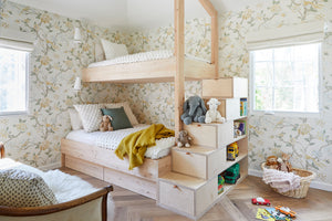This Tricked-Out Kids' Bed Is the Reason We Worship Built-In Storage