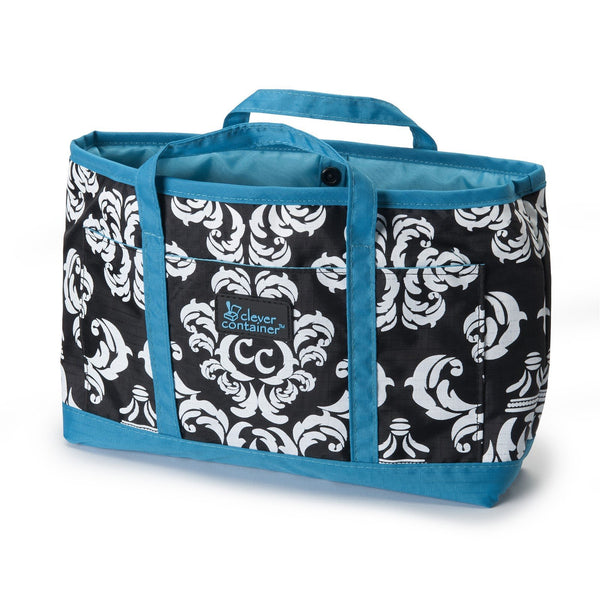 Purse Organizer - Damask with Teal - 75% OFF