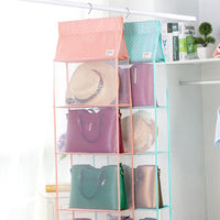 4 Shelves Washable Hanging Closet Organizer  Closet Simple Organizer for Accessory and Clothes