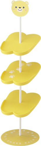 YAMAZAKI home 7963 Bear Children's Rack-Kid's Shoe Organizer, Yellow