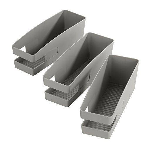 WENKO - 420613900 - Set of 3 Shoe Holder for Ballerina - Polypropylene - Grey 26.5 x 9 x 9.5 cm