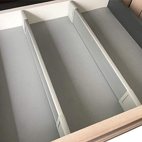 Ya-tube Drawer Dividers-Adjustable, Expandable Deep Drawer Organizer/Divider Partition Strip Isolation Column Free Combination Separator Drawer Divider(6size)