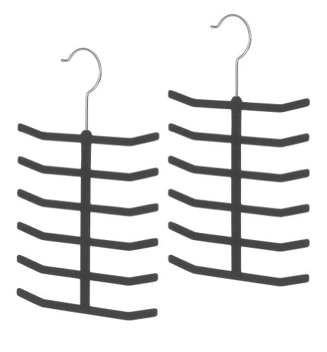 Whitmor Flocked Tie Hangers, S/2