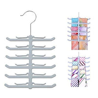 Yardwe Plastic Hanging Tie Rack for Closet Non-Slip Belt Scarf Tie Storage Racks Holder Hanger for Closet Organizer (Fish Bone Shape)