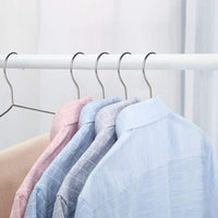 OIKA Clothes Hangers 40 Pack Suit Hangers Stainless Steel Strong Metal Hangers 16.5 Inch for Heavy Duty Clothes