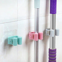 Bigmai Mop and Broom Holder Gripper Hook Self Adhesive Wall Mounted Organizer For Bathroom Kitchen