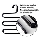 Online shopping ds pants hanger multi layer s style jeans trouser hanger closet organize storage stainless steel rack space saver for tie scarf shock jeans towel clothes 4 pack