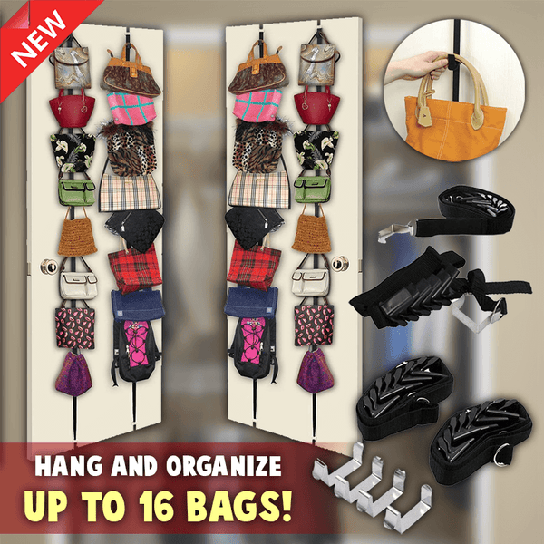 Purse And Handbag Organizer Door Rack (2PCS)
