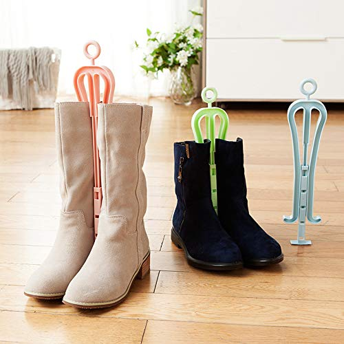 YOLOPLUS 3 PACK Adjustable Boot Shaper Stands Boots Knee High Shoes Clip Support Stand