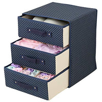 Wuyue Hua Underwear Storage Box, Oxford Cloth, Desktop Bra, Underwear, Socks, Storage Case, Drawer Type Thickening Box, Three Layers