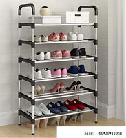 weenine Shoe Rack, Durable And Stable Shoe Tower, 6 Tiers Shoe Organizer (Black)