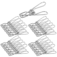 Get webi clothes pins utility clips 25 packs metal stainless steel clips wire clothespin for clothesline drying bags sealing decorative clothespins