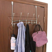 Exclusive vibrynt over the door hook rack heavy duty organizer hooks over door hanger for clothes coats towels hats or handbags