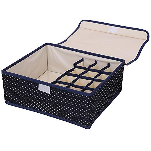 Xligo 2 in 1 Underwear Foldable Storage Box Underwear Bra Closet Organizer for Socks Ties Lingerie only 1 pcs Goods