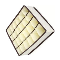 Buy yds 4 pcs collapsible beige fabric storage boxes foldable drawer dresser closet dividers organizer for underwear bra socks lingerie clothing cosmetic