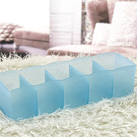Hever 5 Grid Storage Drawer Closet Dresser Cube Basket Organizer Bins for Underwear Socks