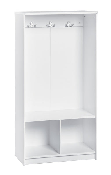 New closetmaid 1499 kidspace open storage locker 49 inch height white