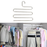 Eleling 5 Layers Pants Clothes Rack S Shape Multi-Purpose Hangers For Trousers Tie Organizer Storage Hanger