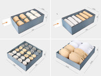 Cheap underwear organizer dresser drawer organizer foldable closet drawer dividers washable sock organizer storage bra box fabric bin for baby clothes panties lingeries ties belts