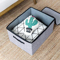 Xligo Cotton Linen Underwear Storage Box Multifunctional Collapsible Washable Underwear Socks Garment Organizer Box with Zipper