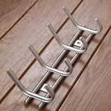 Kitchen protasm wall mounted coat hooks stainless steel heavy duty wall hooks rail robe hook rack for bathroom kitchen entryway closet