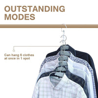 Buy 4pcs clothes hangers space saver closet organizer with vertical and horizontal options premium abs material in solid silver color