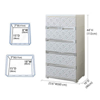 Products nafenai 5 drawer dresser kids storage cabinet for toys storage cart plastic storage bin for office closet bedroom lightweight and movable white