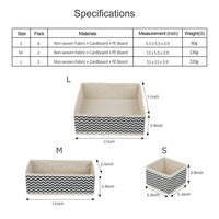 Try dresser drawer organizer 8 pcs foldable storage box fabric closet storage cubes clothes storage bins drawer dividers storage baskets for bras socks underwear accessories home office bedroom