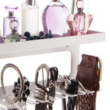 Explore angelynns belt holder organizer hanger wall mount hanging closet storage rack womens mens valet shelf arinn white