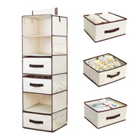 Shop here storageworks 6 shelf hanging dresser foldable closet hanging shelves with 2 magic drawers 1 underwear socks drawer 42 5h x 13 6w x 12 2d