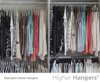 New higher hangers space saving velvet clothes hangers slimline heavy duty closet organizers helps reduce wrinkles and clutter great for dorms and increasing closet space 40 pack black velvet