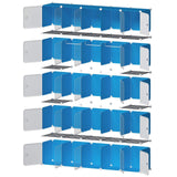 Products george danis portable closet plastic dresser for kids teenagers modular wardrobe cube storage organizer book shelf toy cabinet white 14 inches depth 5x5 tiers