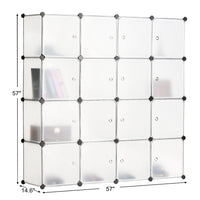 Amazon best bastuo 16 cubes diy storage cabinet clothes wardrobe closet bookcase shelf baskets modular cubes closet for toys books clothes white with doors