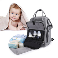 Discover gyssien diaper bag multi function waterproof travel backpack nappy bags for baby care large capacity stylish and durable gray