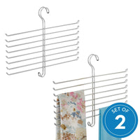 Results interdesign classico spine scarf closet organizer hanger set of 2 holder