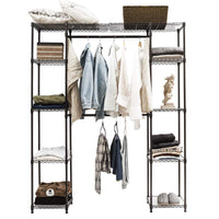 Products tangkula garment rack portable adjustable expandable closet storage organizer system home bedroom closet shelves clothes wardrobe coffee