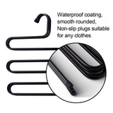 Buy now ds pants hanger multi layer s style jeans trouser hanger closet organize storage stainless steel rack space saver for tie scarf shock jeans towel clothes 4 pack 1