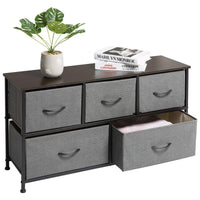 Great marble field 3 tier dresser drawer nightstands storage organizer dresser tower with 5 easy pull drawers and metal frame for your bedroom nursery closet entryway grey 32 37x11 31x29 84