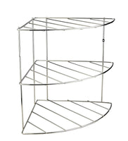 Metal 3 Tier Corner Shelf Organizer with Mounting Holes or Free Standing for Counter and Cupboards