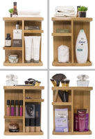 Best seller  sorbus 360 bamboo cosmetic organizer multi function storage carousel for makeup toiletries and more for vanity desk bathroom bedroom closet kitchen
